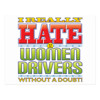 Women Drivers Hate Face Post Cards