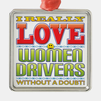 Women Drivers Love Face Christmas Tree Ornament
