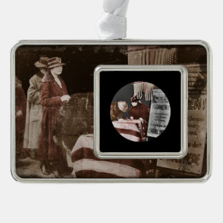 Women Enroll to Volunteer  During Wartime Silver Plated Framed Ornament