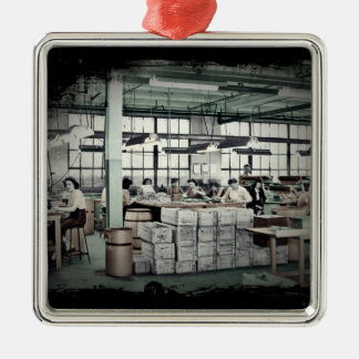 Women Factory Workers WWII Ornament