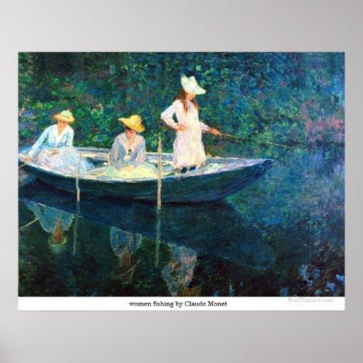 women fishing by Claude Monet Posters