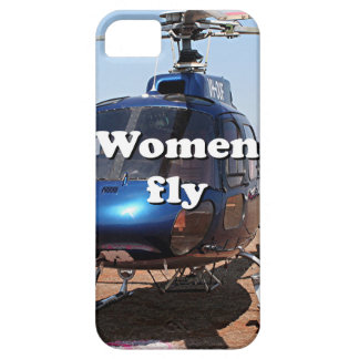 Women fly: blue helicopter case for the iPhone 5