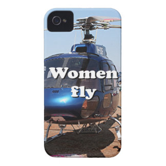 Women fly: blue helicopter iPhone 4 case