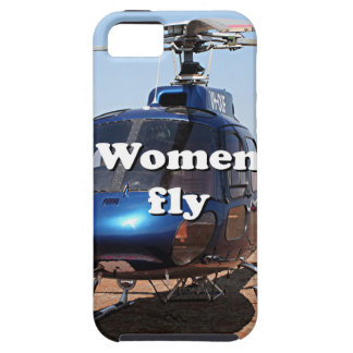 Women fly: blue helicopter iPhone 5 cases