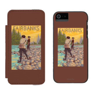 Women Fly Fishing - Fairbanks, Alaska Incipio Watson™ iPhone 5 Wallet Case