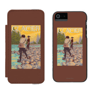 Women Fly Fishing - Glacier National Park, MT Incipio Watson™ iPhone 5 Wallet Case
