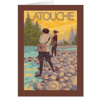 Women Fly Fishing - Latouche, Alaska Card