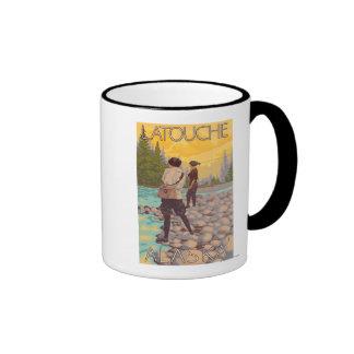 Women Fly Fishing - Latouche, Alaska Coffee Mug
