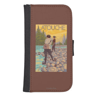 Women Fly Fishing - Latouche, Alaska Galaxy S4 Wallet Cases