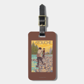Women Fly Fishing - Latouche, Alaska Tags For Luggage