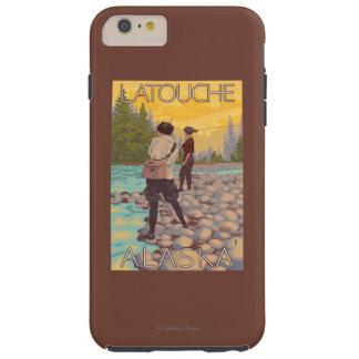 Women Fly Fishing - Latouche, Alaska Tough iPhone 6 Plus Case