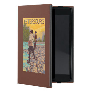 Women Fly Fishing - Petersburg, Alaska Case For iPad Mini