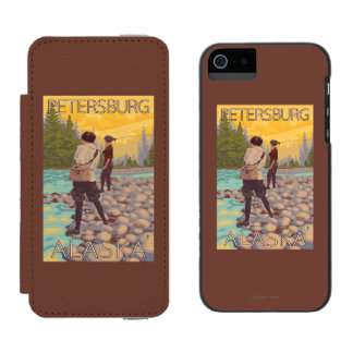 Women Fly Fishing - Petersburg, Alaska Incipio Watson™ iPhone 5 Wallet Case