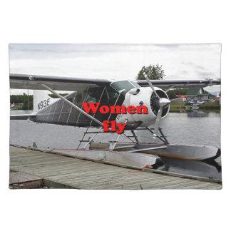 Women fly: float plane 1, Alaska Placemat