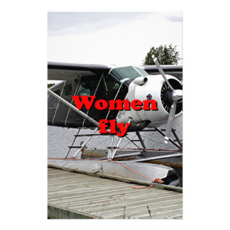 Women fly: float plane 1, Alaska Stationery