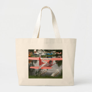 Women fly: float plane 23, Alaska Large Tote Bag