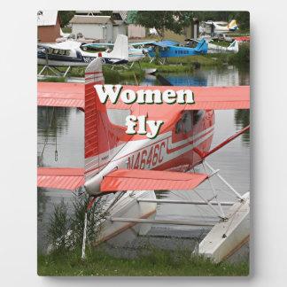 Women fly: float plane 23, Alaska Plaque