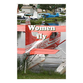 Women fly: float plane 23, Alaska Stationery