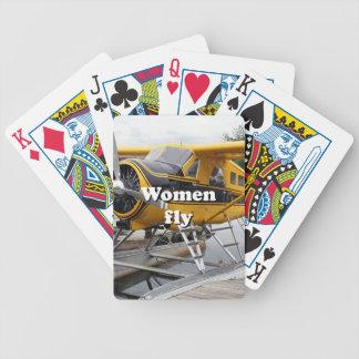 Women fly: float plane, Lake Hood, Alaska Bicycle Playing Cards
