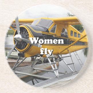 Women fly: float plane, Lake Hood, Alaska Coaster