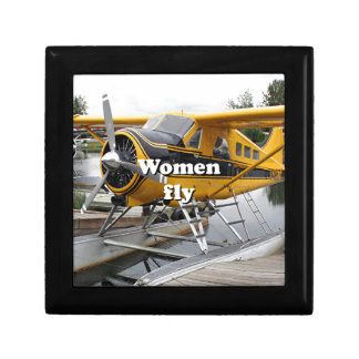 Women fly: float plane, Lake Hood, Alaska Gift Box