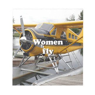 Women fly: float plane, Lake Hood, Alaska Notepad