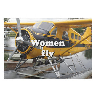 Women fly: float plane, Lake Hood, Alaska Placemat