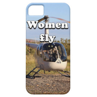 Women fly: Helicopter (white) 2 Case For The iPhone 5