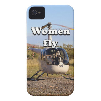 Women fly: Helicopter (white) 2 iPhone 4 Case