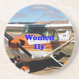 Women fly: high wing aircraft coaster