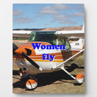Women fly: high wing aircraft plaque