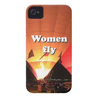 Women fly: hot air balloon 2 iPhone 4 case