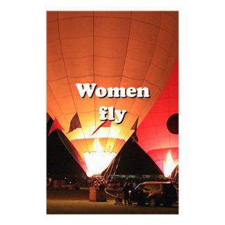 Women fly: hot air balloon 2 stationery