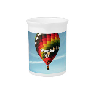 Women fly: hot air balloon beverage pitchers