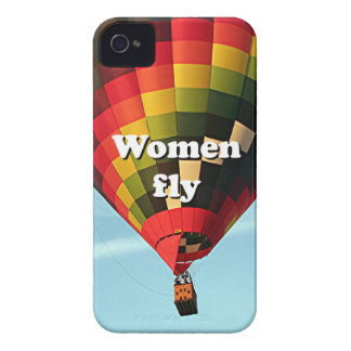 Women fly: hot air balloon iPhone 4 case
