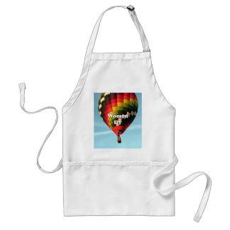 Women fly: hot air balloon standard apron