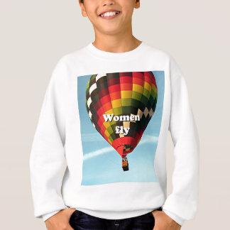 Women fly: hot air balloon sweatshirt
