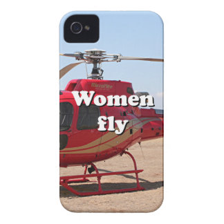 Women fly: red helicopter Case-Mate iPhone 4 cases