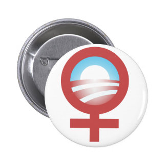 Women for Barack Obama 2012 Logo Pinback Button