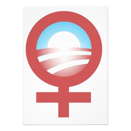 Women for Barack Obama 2012 Logo Custom Announcement