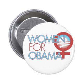 Women for Barack Obama 2012 Pinback Buttons