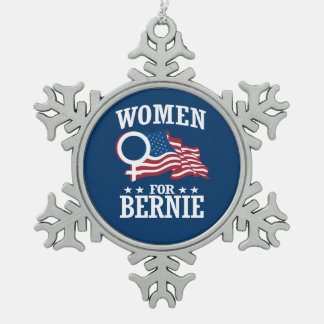 WOMEN FOR BERNIE SANDERS PEWTER SNOWFLAKE DECORATION