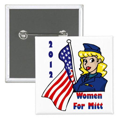 Women For Mitt  Buttons