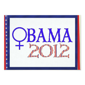 WOMEN FOR OBAMA 13 CM X 18 CM INVITATION CARD