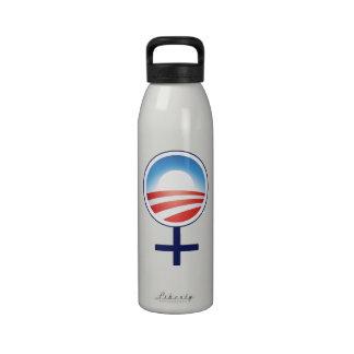 Women for Obama 2012 Recycled Aluminum Bottle Reusable Water Bottle