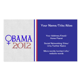 WOMEN FOR OBAMA PACK OF STANDARD BUSINESS CARDS
