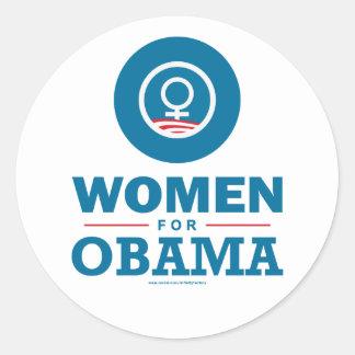 Women for Obama Classic Round Sticker