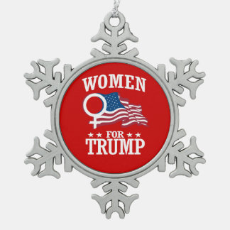 WOMEN FOR TRUMP PEWTER SNOWFLAKE DECORATION