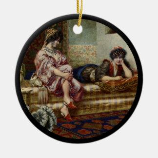 Women Friends in a Harem Ceramic Ornament