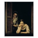 Women from Galicia at the Window, 1670 Print
